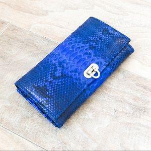 Handbags - NEW Genuine Leather Snakeskin Clutch Purse Wallet